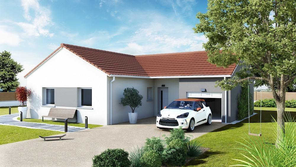Levanta maison traditionnelle avec plan en l for Plan de maison pas cher a construire
